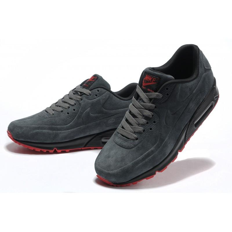 Кроссовки Nike Air Max 90 VT Gray Серые мужские Замш