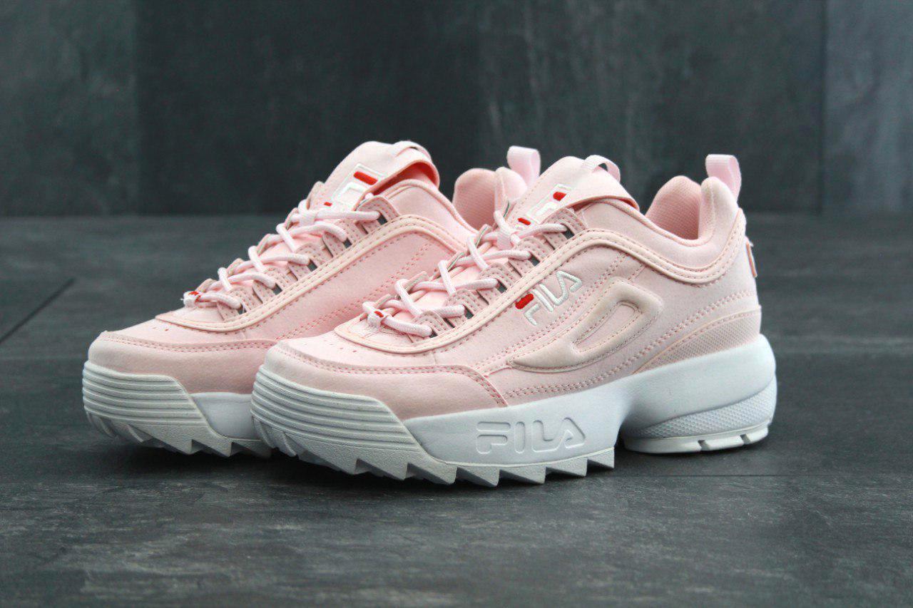 Кроссовки женские Fila Disruptor II Pink White розовые