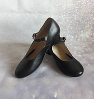 Туфли народные чёрные