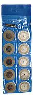 Алмазные диски для гравера 10 штук + 2 адаптера 35