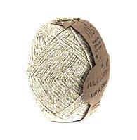 Трикотажный шнур с люрексом Knit & Shine, цвет Молочный