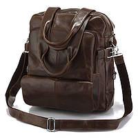 Сумка рюкзак кожаная 14150, Коричневый