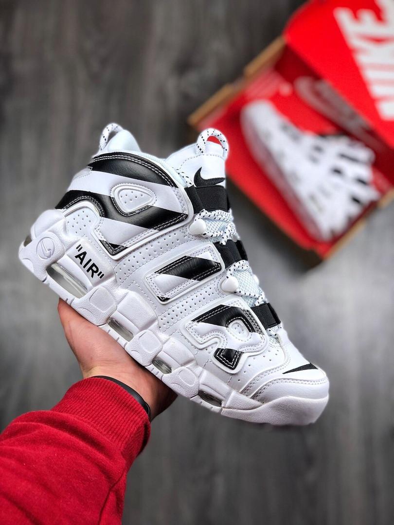 886caa566db4 Мужские кроссовки Nike Air Mоre Uptempo высокие массивные качественные  осень еврозима (белые), ТОП-реплика