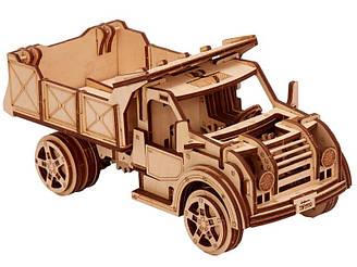 Вантажівка 00003 - дерев'яний 3D пазл Wood trick (механічний дерев'яний конструктор)
