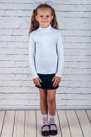 Водолазка с вышивкой на девочку кашкорсе (110 см)