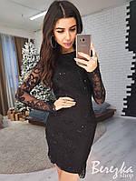 Облегающее платье с сеткой и кружевом 66PL2328, фото 1