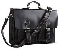 Портфель Vintage 14205 кожаный Черный, Черный, фото 1
