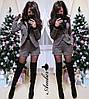 Буклированный женский костюм с шортами 8KO934