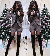 Буклированный женский костюм с шортами 8KO934, фото 1