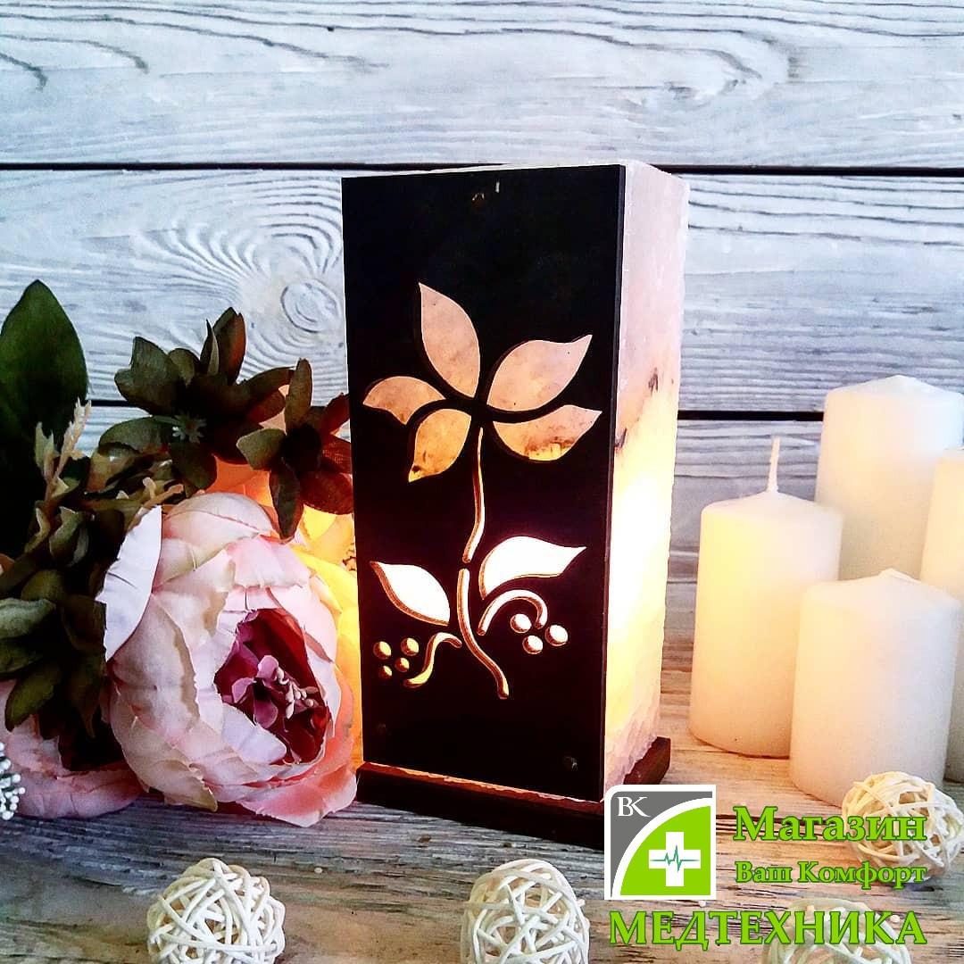 Соляная лампа - цветок