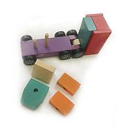 Машинка деревянная Самосвал Cubika 14026