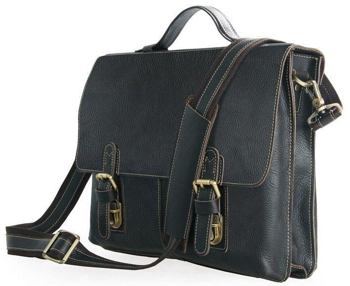 Портфель Vintage 14248 Черный, Коричневый