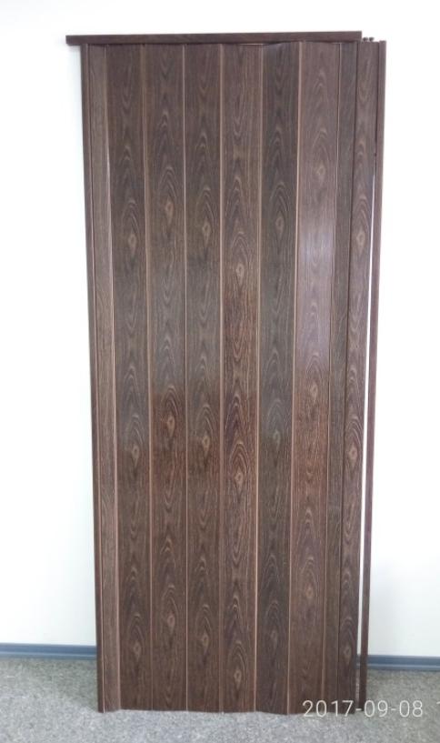 Дверь гармошка глухая 1000х2030х6мм Орех №7103