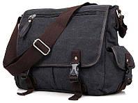 Сумка мужская Vintage 14413 текстильная Серая, Серый, фото 1