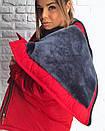 Короткая зимняя куртка с большим капюшоном 3kr183, фото 2