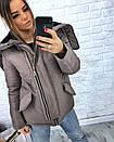 Короткая зимняя куртка с большим капюшоном 3kr183, фото 5