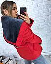 Короткая зимняя куртка с большим капюшоном 3kr183, фото 6