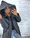 Короткая зимняя куртка с большим капюшоном 3kr183, фото 7
