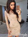 Облегающее платье с сеткой и кружевом 66py2328, фото 4