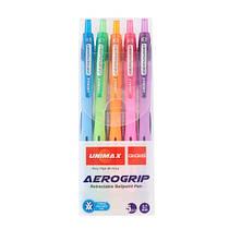 Набор ручек шариковых Aerogrip UX-140 Юнимакс автомат