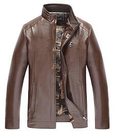 Мужская кожаная куртка. Модель 61148-н