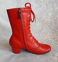 Сапожки народные красные на шнурках 7f18f8001f160