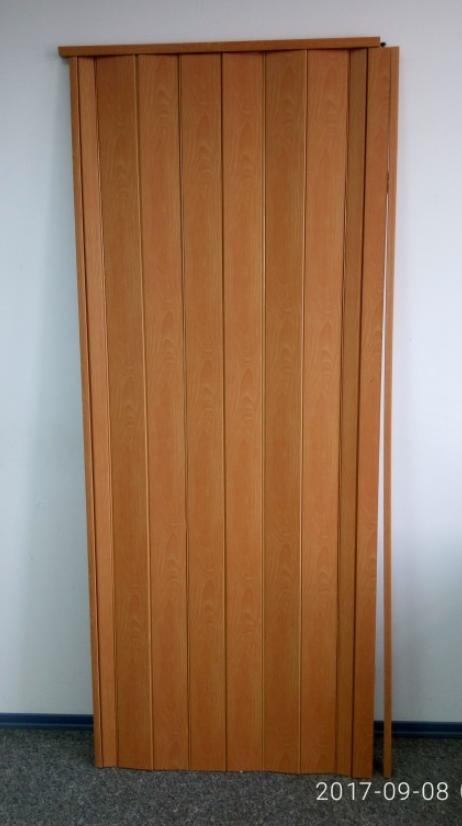 Дверь гармошка глухая ЭЛИТ  880х2030х10мм Вишня