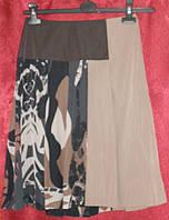 Комбинированная  шелковая юбка