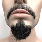 🧔 Борода и усы реалистичные — накладка на сетке чёрного цвета, фото 9