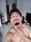 🧔 Борода и усы реалистичные — накладка на сетке чёрного цвета, фото 10
