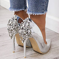 Женские туфли,серебро