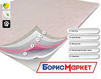 Тонкий ортопедический матрас (наматрасник) OrthoSlim1 Dz-mattress хорошо выравнивает поверхность