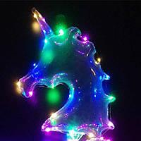Светящийся шарик-единорог,светодиодный шар на палочке, фото 1