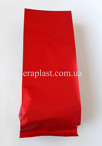 Пакет с центральным швом красный матовый 1кг 135х360х35, фото 2
