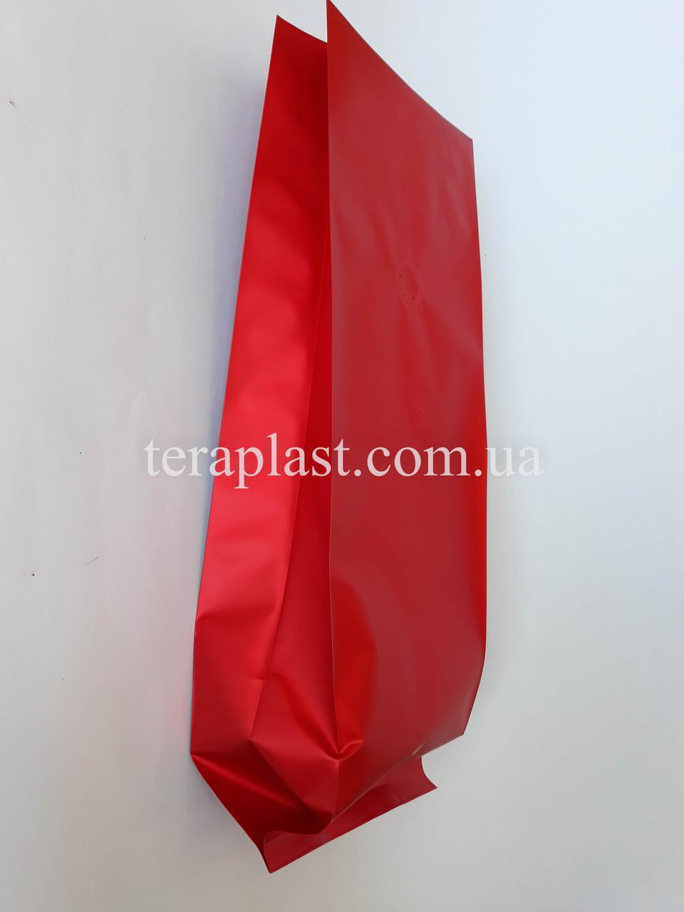 Пакет с центральным швом красный матовый 1кг 135х360х35