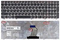 Клавиатура для ноутбука LENOVO (G570, G575, G770, G780, Z560, Z565) rus, black, gray frame