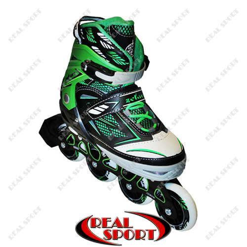 Роликовые коньки раздвижные Zelart Sport Z-9001G, зеленые