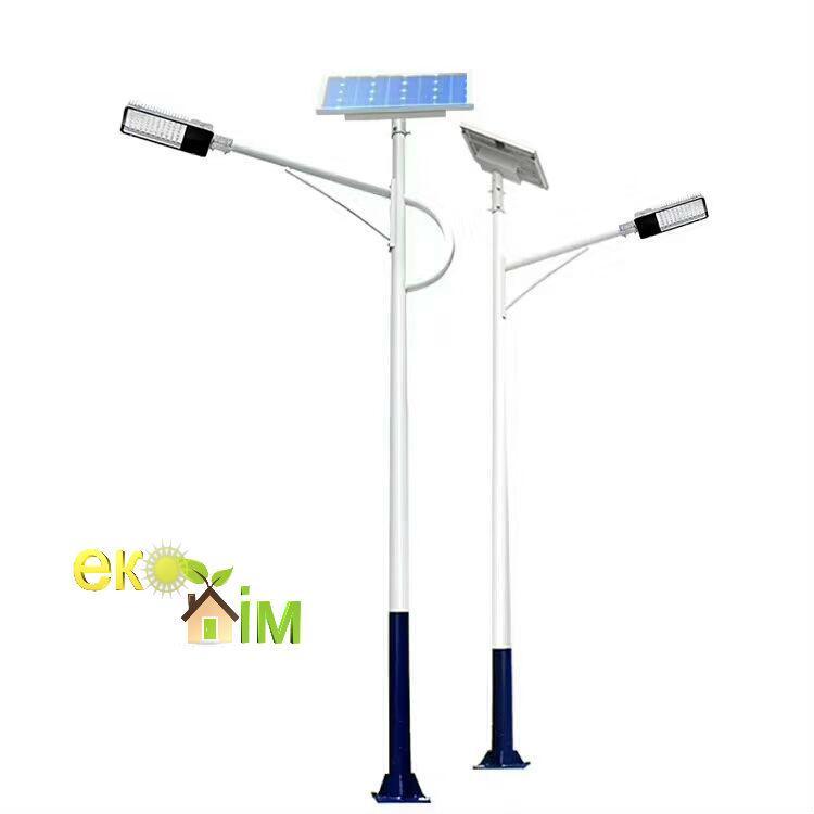 50-150 Вт уличный фонарь на солнечной батарее. Вуличний світильник LED із сонячною панелю