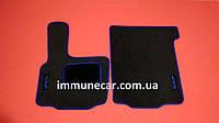Коврик салона мягкий на DAF XF 95 АКП водитель+пассажир с синим кантом