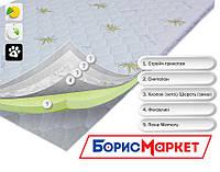 Тонкий ортопедический матрас (наматрасник) OrthoSlim3 Dz-mattress с эффектом памяти