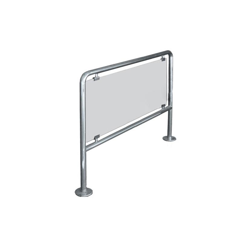 Ограждения стационарное/съемное со стеклом, полированная нержавеющая сталь, прозрачное стекло