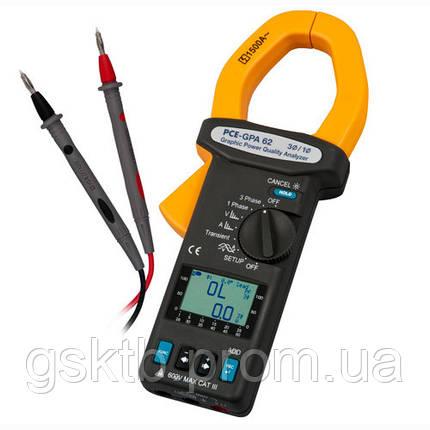 Анализатор качества электроэнергии с функцией записи PCE-GPA 62, фото 2