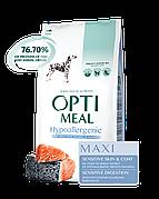 Optimeal Оптимил Гипоаллергенный 12 кг для крупных пород с лососем