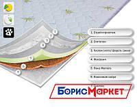 Тонкий ортопедический матрас (наматрасник) OrthoSlim5 Dz-mattress с кокосовой койрой