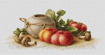 """Набор для вышивания крестиком """"Натюрморт с овощами"""""""
