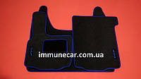 DAF XF 95 автомат ковры велюровые в кабину (синий)