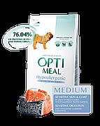 Optimeal Оптимил Гипоаллергенный 12 кг для средних пород с лососем