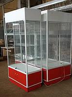 Шкаф - витрина из аллюминиевого профиля б/у, фото 1