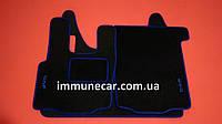 Автомобильные велюровые ковры в кабину для DAF XF 95 механика синие