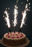 Свечи тортовые феерверк 6шт 12см.(код 01006), фото 1